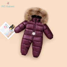 803 Winter jumpsuit duck down jackets for baby boy 12M 4Y winter jacket for children baby clothes for girls snowsuit warm infant