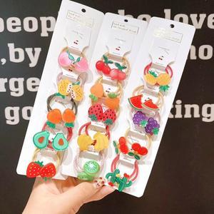 40 pièces multicolore bébé filles cheveux cravates animaux fruits cheveux bandes élastique pour queue de cheval pour enfants nourrissons tout-petits filles cheveux accessoire