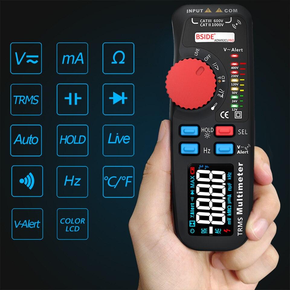 Image 4 - BSIDE Модернизированный Цифровой мультиметр цветной ЖК цифровой мультиметр 6000 отсчетов TRMS авто диапазон напряжения Ампер Ом Гц Кепка темп диод-in Мультиметры from Инструменты
