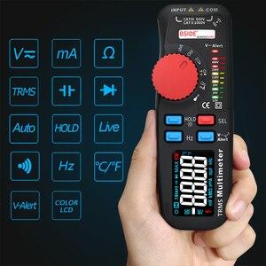 Image 4 - BSIDE Модернизированный Цифровой мультиметр цветной ЖК цифровой мультиметр 6000 отсчетов TRMS авто диапазон напряжения Ампер Ом Гц колпачок темп диод
