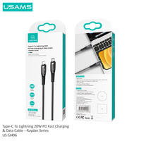 USAMS PD 20W Type C To Lightning Cable for iPhone 12 Mini Pro Max 11 MAX PRO 8 PD 18W 20W Fast USB C Charging Data Cable for Macbook Pro