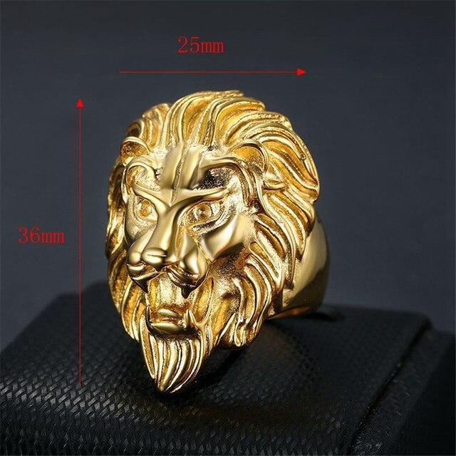 Chevalière tête de lion gitan