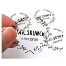 100PCS 30mm custom transparent label stickers, personalized name transparent stickers, wedding stickers, logos, eyelash stickers