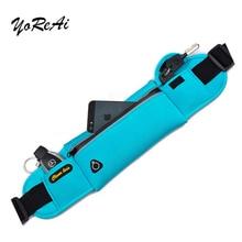 YoReAi Outdoor Sports Pockets Anti-theft Mobile Phone Running Belt Waterproof Men Women Tactical Invisible Waist Bags