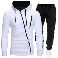 Winter Men's Tracksuit 2 Pieces Set Hoodies+Pants Sport Suits for Men Sweatshirt Zipper Hoodies Men's Clothing Sets Sportswear