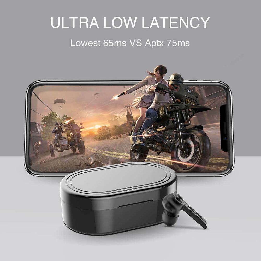 Arylic Echte Draadloze Bluetooth 5.0 Lage Latency Oortelefoon Game Oordopjes Met Microfoon Grote Batterij Capaciteit M500 Tws Mic Headset - 2