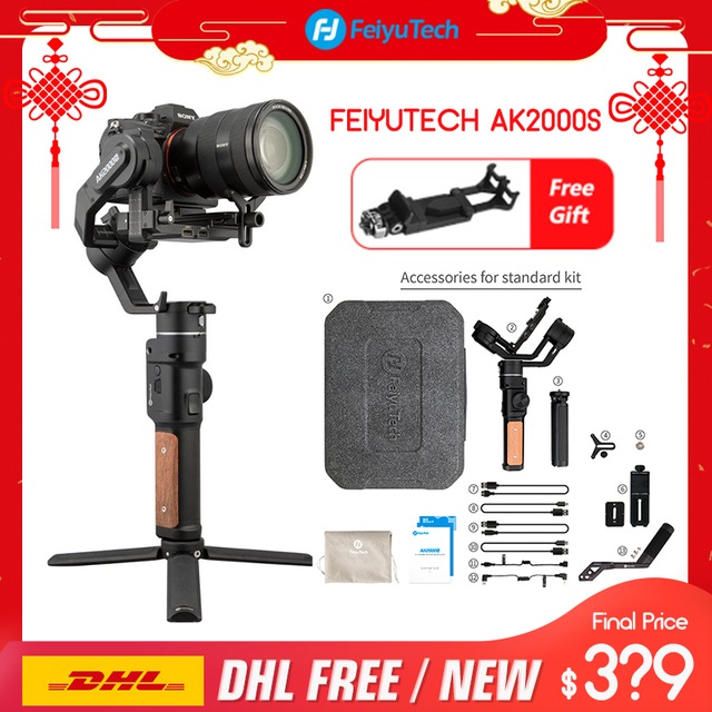 FeiyuTech AK2000S 3 assi gimble DSLR Camera Stabilizzatore Palmare Video Gimbal misura per DSLR Mirrorless Camera pk ak2000