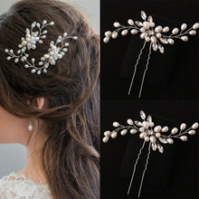 Bridal Tiaras Headwear Hair-Clips Barrettes Vine Wedding-Jewelry Diamante-Hair Women