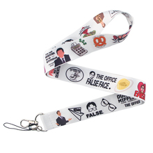 CA208 Wholesale 20pcs/lot Office TV Lanyards For keychain ID Card Pass Mobile Phone USB Badge Holder Hang Rope Lariat Lanyard