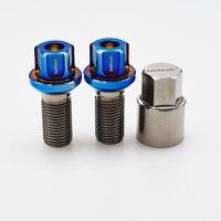 Burnt blue ball seat M14*1.5*28 Gr5 titanium wheel hub anti theft bolt for Mercedes Benz