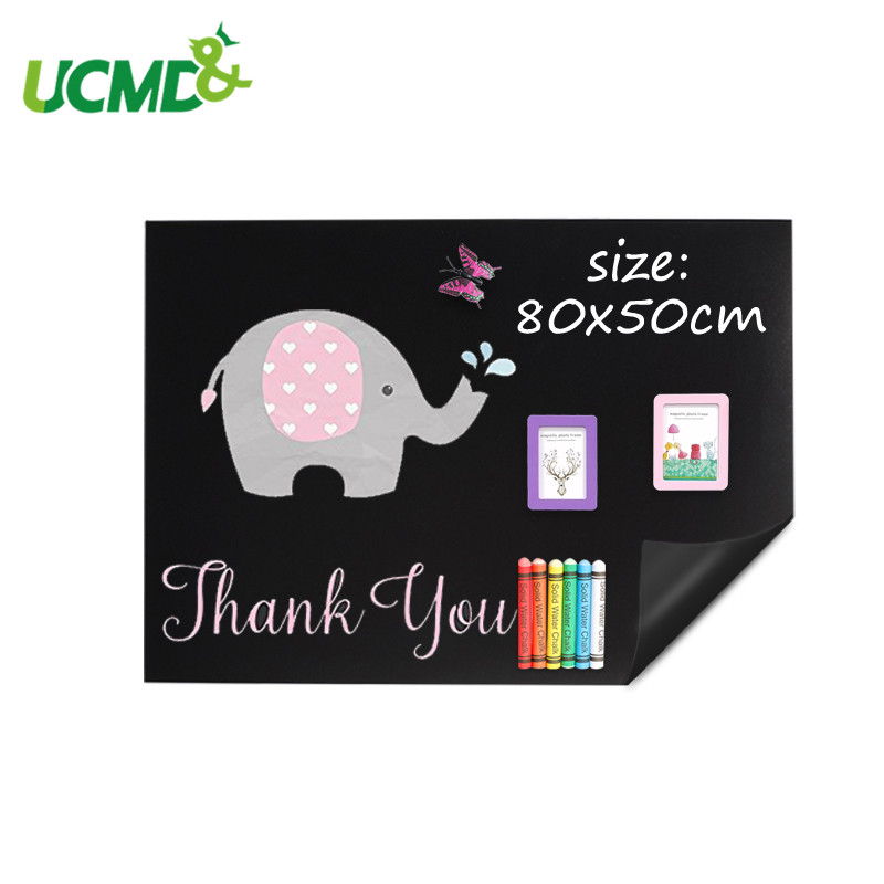 80*50 cm flexível quadro adesivo de parede blackboard macio para crianças doodle graffiti escrita desenho pintura placa brinquedo