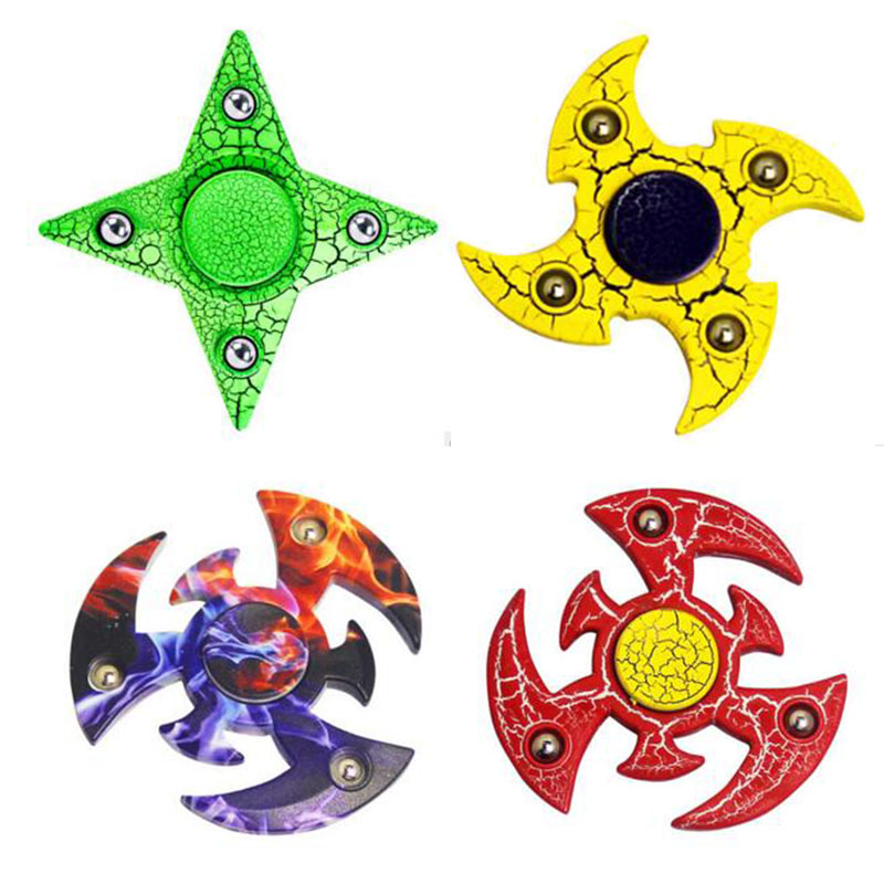 Promotion Cool Fidget Spinners Fidget Toys Naruto Top Spinner Toy Finger Hand Spinners With Fidget Spiners Box Rainbow