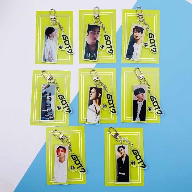 Kpop GOT7 Album foto schlüssel kette neue konzert keychain GOT7 Foto anhänger um Neue neue album foto poster anhänger schlüssel ring kpop