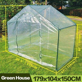 Auaysed-Invernadero De flores para jardinería, Invernadero De PE, 5,9X3,5X5 pulgadas, verde cálido,...
