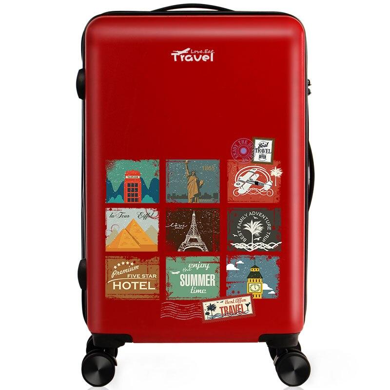 Luggage Bag Cartoon Unisex Spinner High Quality Suitcase Waterproof Scratch Proof Luggage Bag Maletas De Viaje Con Ruedas