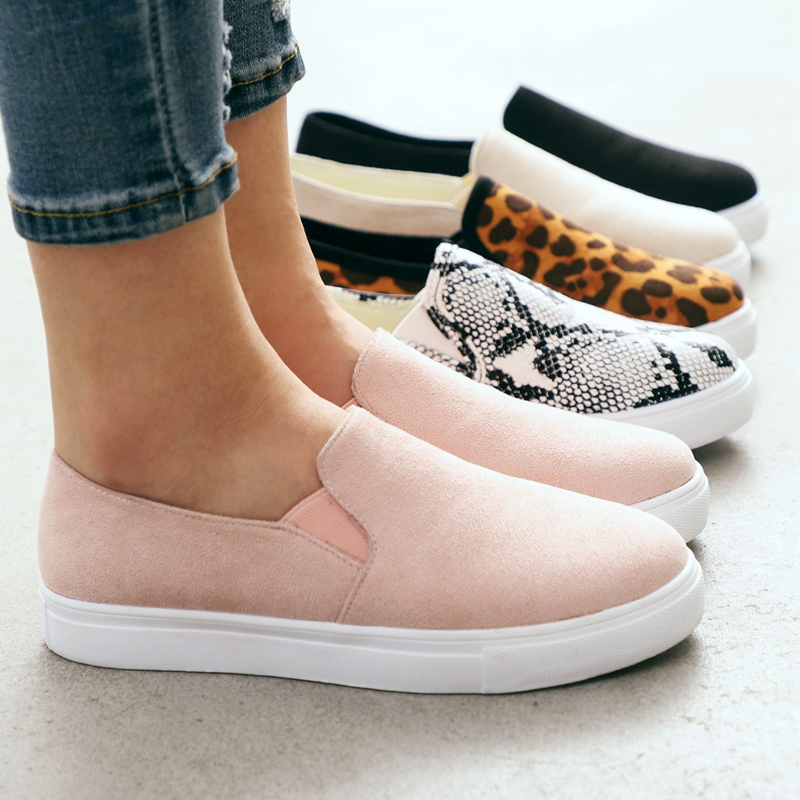 WENYUJH Women Leopard Canvas Shoes Autumn Low-cut Round Head Shoes Woman High Quality Classic Fashion Sneakers  Zapatos De Mujer