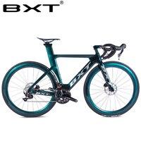 BXT Carbon fiber road bike super light T800 carbon road bike frame+fork Complete bicycle racing bike with Disk Crank set 2x11s