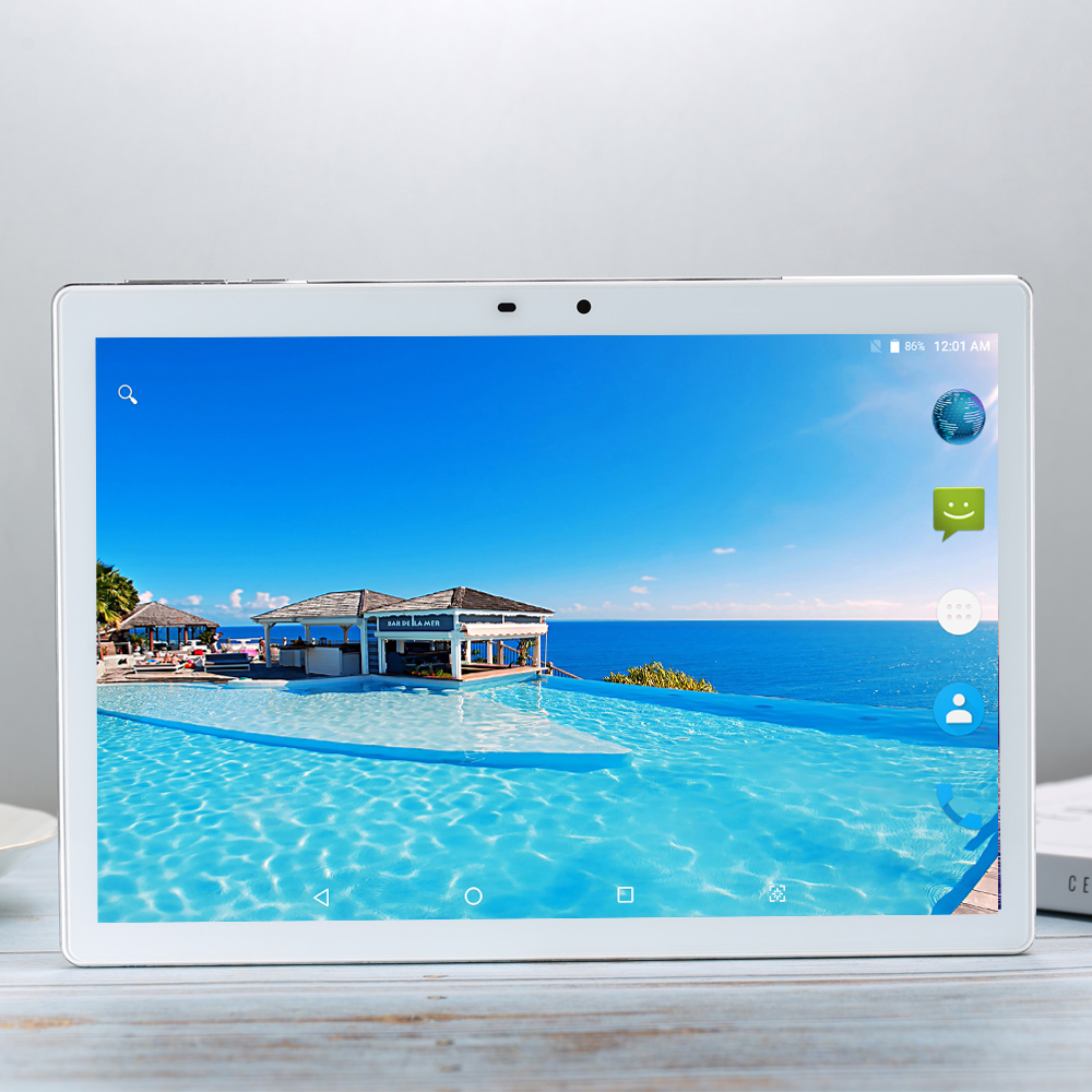 MTK6797 Tempered 2.5D Glass 4G FDD LTE 10 Inch Tablet Pc 10 Core 6GB RAM 256GB ROM 1920*1200 IPS Screen WIFI Android 7.1.1 GPS