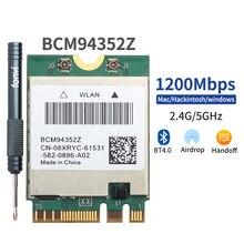 Hackintosh için MacOS BCM94352Z BCM94360NG DW1560 M.2 Wifi adaptörü kablosuz 1200Mbps 802.11ac 2.4Ghz/5G Bluetooth 4.0 NGFF kart