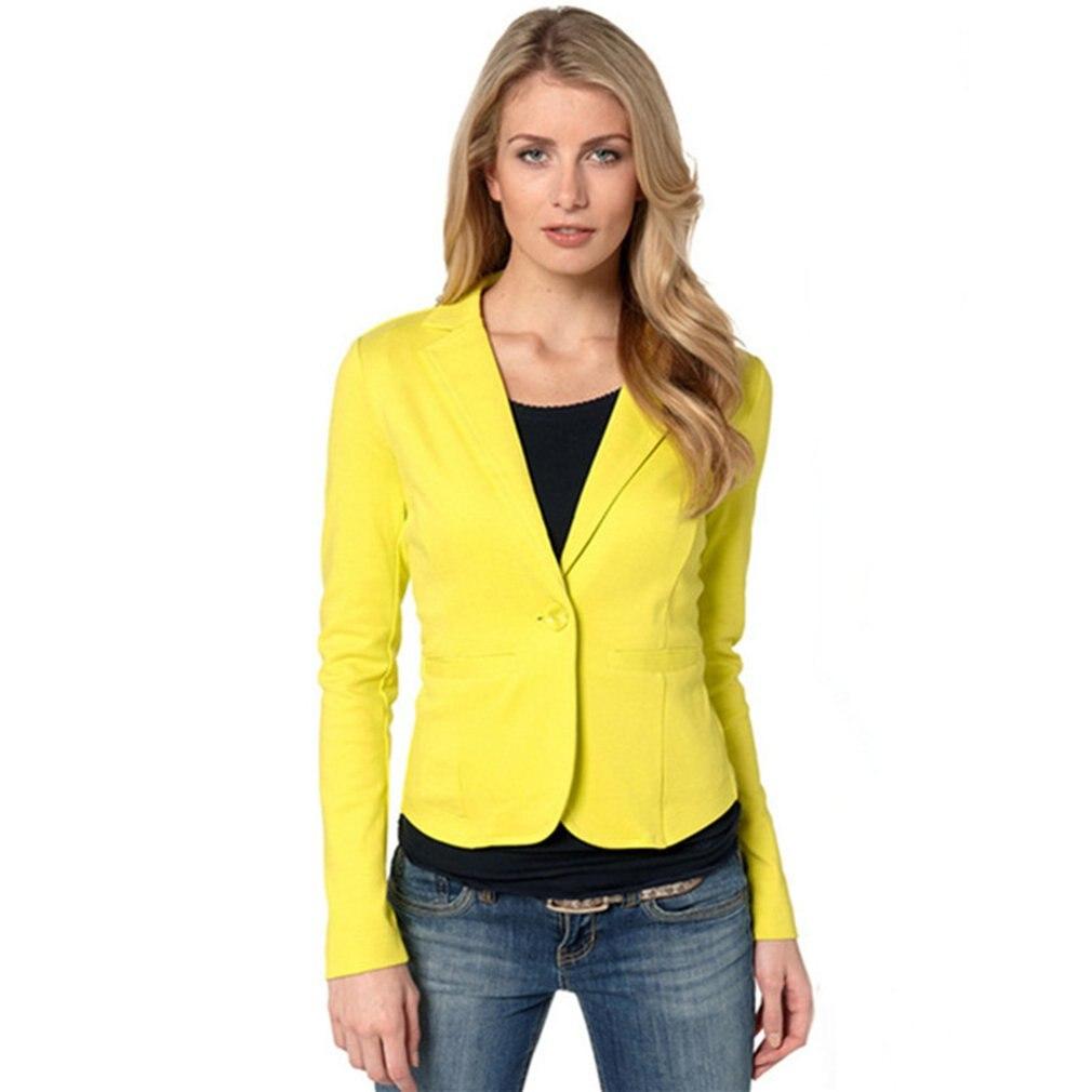 Women Blazer Autumn Winter Fashion Office Lady Style Candy Color Outwear Slim Fit Coat Youthful Elegant Jacket