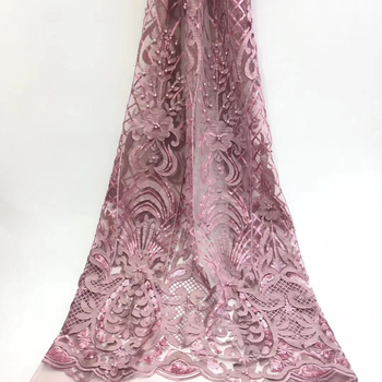 African lace fabric 2020 high-quality embroidery French 3D beaded mesh Nigerian lace fabric, suitable for women's wedding T3132