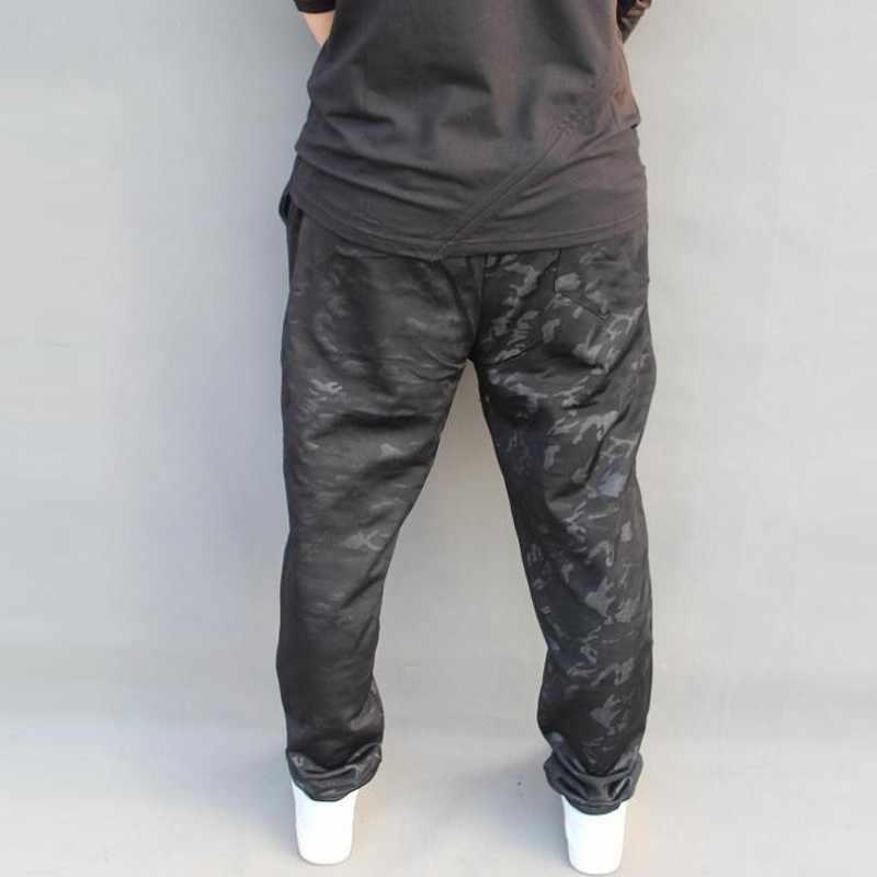 2020 nowy wysokiej jakości mężczyzna dorywczo spodnie Harem biegaczy kamuflaż polar ciepłe luźne spodnie mężczyźni koreański dna duży rozmiar 5XL 6XL