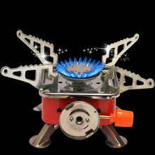 portable camping stove Outdoor Gas Stove Camping Gas burner Folding Electronic Stove hiking Portable Foldable Split Stoves 4000W стоимость