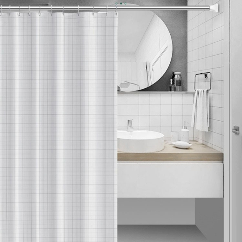 Wall Mounted Shower Curtain Rod