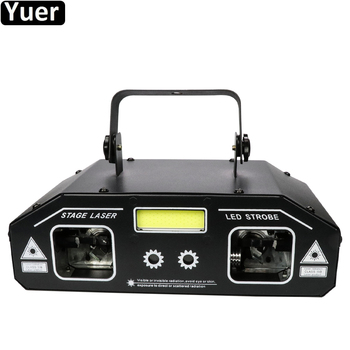 36W RGB 3IN1 Strobe Laser Scanner Projector DMX512 Stage Lighting Effect DJ Disco Bar Party Holiday Dance Christmas Lights alien remote dmx512 200mw rgy laser stage lighting scanner effect dance dj disco party show light xmas projector lights