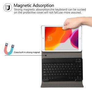 Image 3 - Bluetoothキーボードipad 7th世代 (2019)/新型ipad 8th世代 (2020) 10.2インチ 着脱式のbluetoothキーボード保護ケース