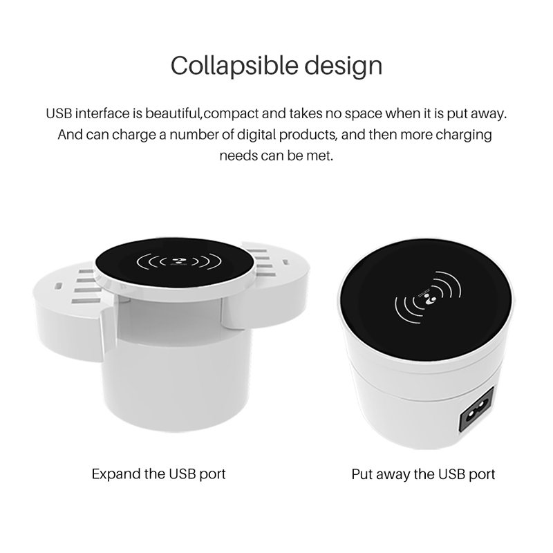 10 Port Smart Foldable Mobile Phone Charger with Type C Wall Adapter Hub Travel Universal iphone 7 6s Wireless Charger forXiaomi in Mobile Phone Chargers from Cellphones Telecommunications