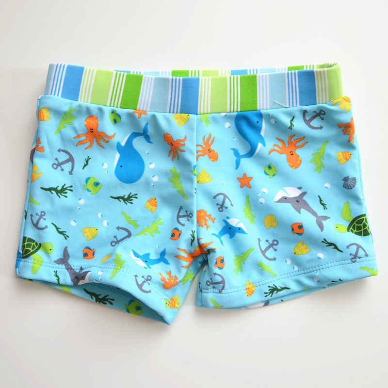 2020 New Style KID'S Swimwear Big Boy Baby Infants Blue Stripes Whale Lace-up BOY'S AussieBum