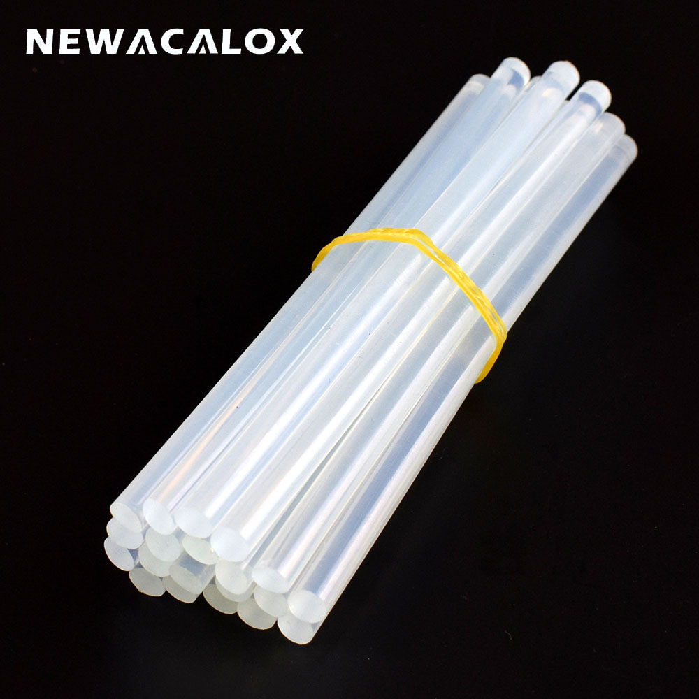 NEWACALOX 20PCS 7mm X 150mm White/Black/Yellow Hot Melt Glue Sticks For Mini Electric Heat Pistol Glue Gun Craft DIY Repair Tool
