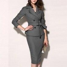 Женский костюм, комплект из 2 предметов, деловые костюмы, женские Сексуальные облегающие мини-платья, куртка, повседневное пальто, офисная одежда, куртки, платья, наборы, блейзер