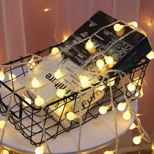 Fairy-String Garland-Lights Decoration Outdoor-Lamp Led-Ball Holiday Usb/Battery-Power