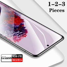 1-3 Pieces/Lot Screen Protector For Samaung S20FE S21 Plus Full Cover Glass Tempered Film Case For Samsung Galaxy S21 21+ s20 fe