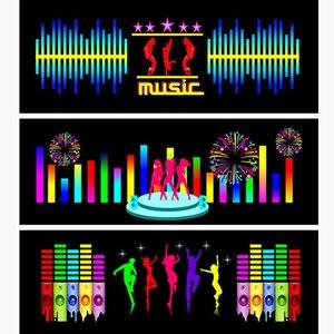 Image 2 - Voor Auto Achter Glas Led Equalizer Auto Neon El Licht Muziek Ritme Jump Flash Lamp Sticker Styling Met control Box