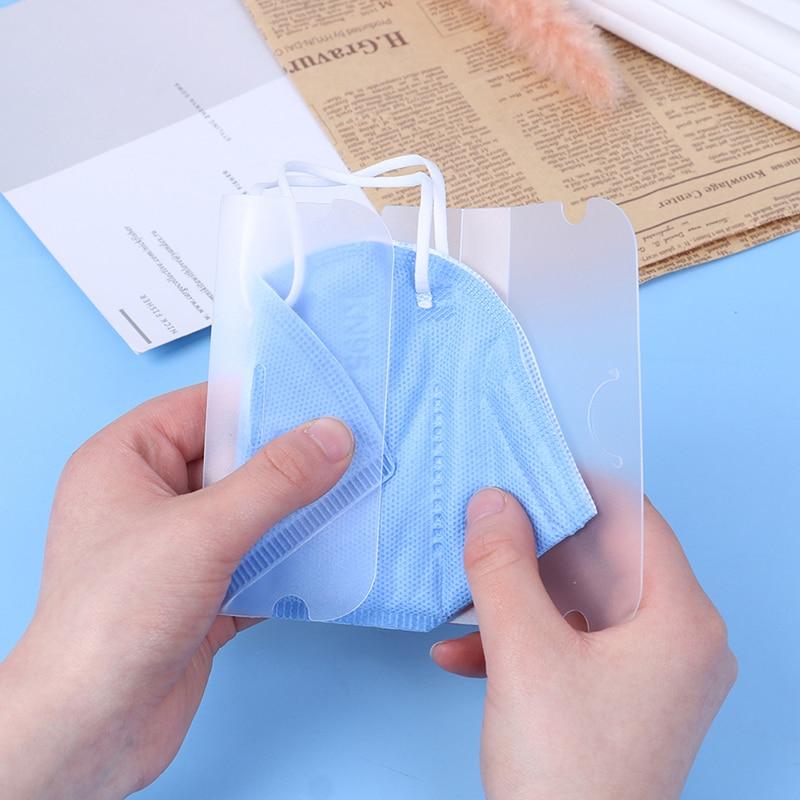 5pcs Disposable Foldable Safe Pollution Face Masks Storage Box Organizer