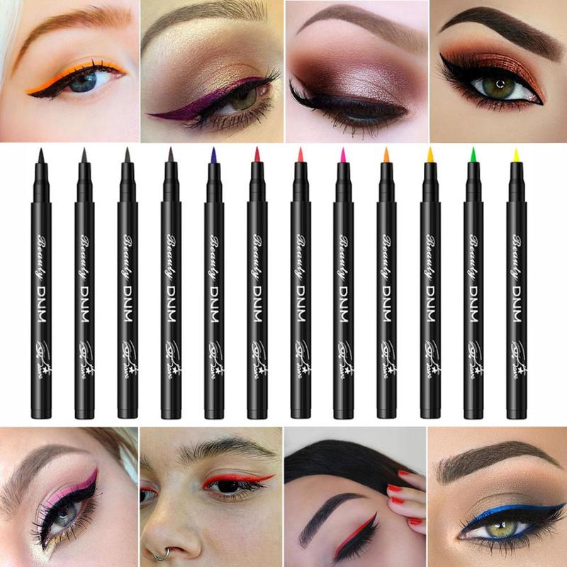 Colorful Waterproof Liquid Long Lasting Eyeliner Pen New Hot Matte Pigment Eyeshadow Eyeliner Pen Tools Party Eye Beauty Make Up
