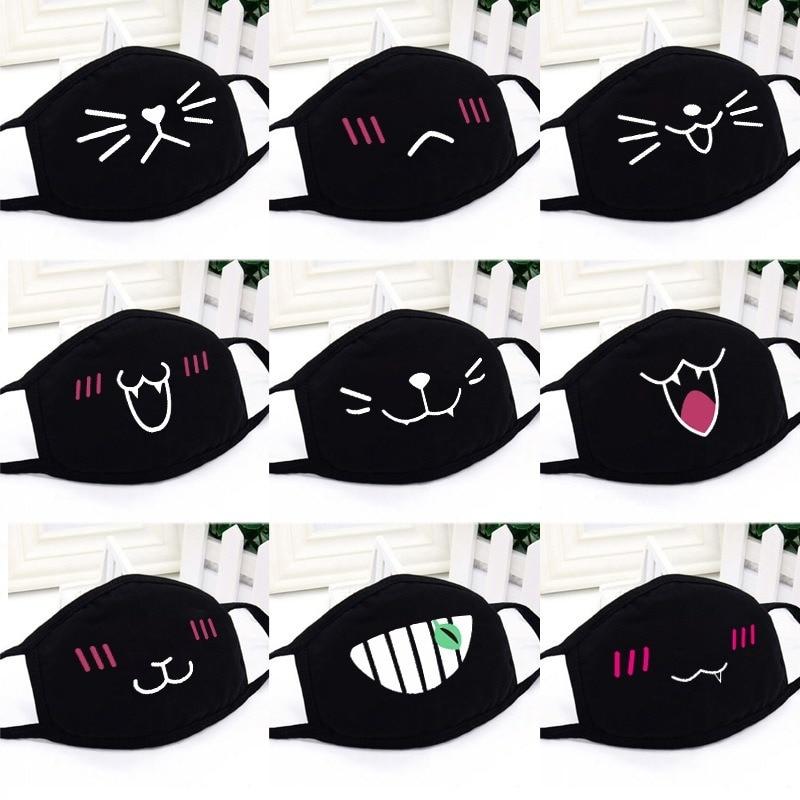 Cartoon Dust Mask Women Masks Cotton Creative Cute Korean Men Personality Comfortable Lovers Black Girls Fashion Autumn Winter