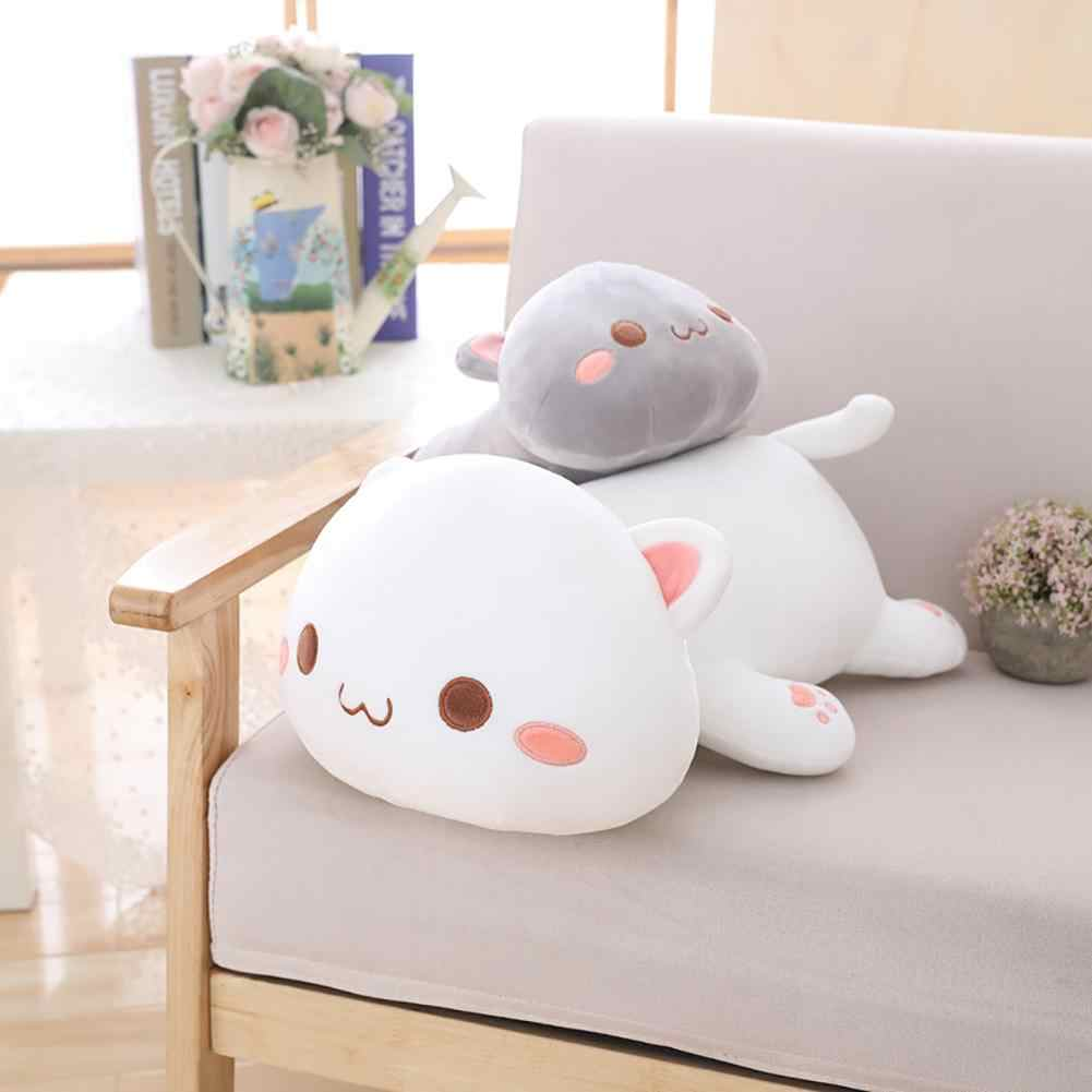 Kawaii الكذب القط دمية على شكل حيوان أفخم محشوة وسادة للظهر وسادة الاطفال لعبة هدية لينة الكرتون وسادة طفل هدايا عيد الميلاد