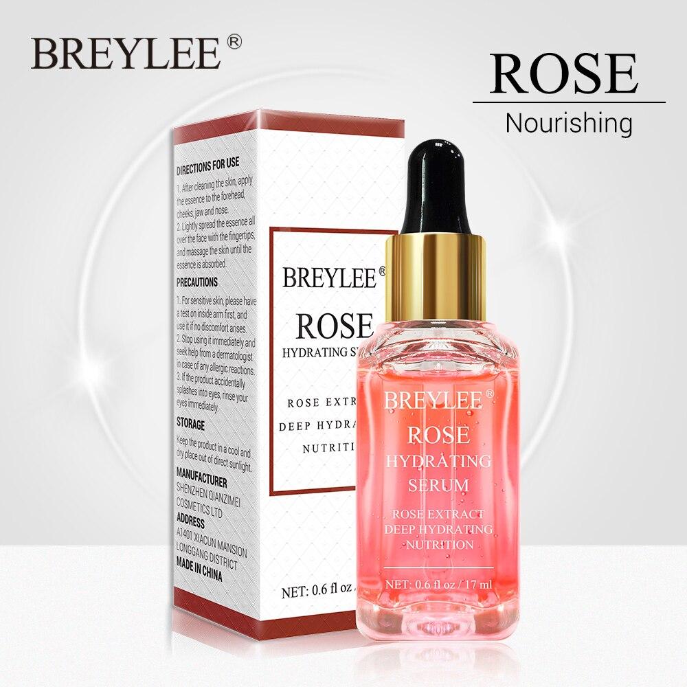 BREYLEE Rose Nourishing Face Serum Deep Hydrating Moisturizing Facial Skin Care Whitening Repairing Anti-Aging Remove Wrinkles