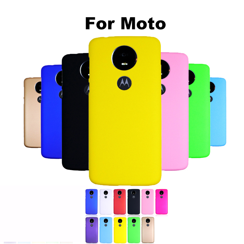 Case For Moto X4 E4 G5S C plus Z2 G4 X PLAY M G3 X3 NEXUS 6 G2 E G Shockproof Plastic Cute Candy Color Hard Matte Case Cover