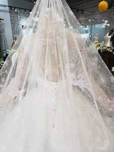 Image 4 - BGW HT5619 Suknia Slubna فساتين زفاف مصنوعة يدويا الثقيلة بأكمام طويلة على شكل حرف o مشد ثوب زفاف 2020 جديد