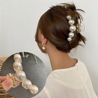 Elegante grande perla capelli artiglio donna ragazze forcina moda Barrettes fermaglio per capelli acrilico fermagli per capelli granchio copricapo accessori per capelli