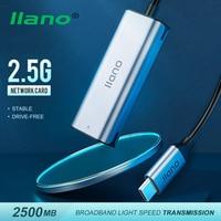 Hub adattatore Lan Ethernet da 2500M USB C 2.5G cablato da tipo C a RJ45 Hub adattatore Lan Ethernet per MacBook Windows 8/10 / XP