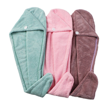 Microfiber Wisp Dry Head Hair Towel for Women Adult Bathroom Absorbent Quick-Drying Bath Thicker Shower Long Curly Hair Cap
