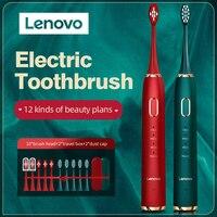 Lenovo-cepillo de dientes eléctrico para adultos, dispositivo de limpieza Dental con carga USB, resistente al agua IPX7, protección Dental Sónica, 45000 minutos