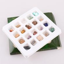 20Pcs/Box Ore Fossil Mineral Ornament Gadget special for kids Natural Polished Various color&Shape Stone Craft Gift Home Decor
