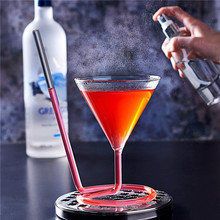 220ml Cocktail Glass Creative Screw Spiral Straw Molecule Wine Glass Champagne Goblet Party Bar Drinking Glasses Kitchen Tools